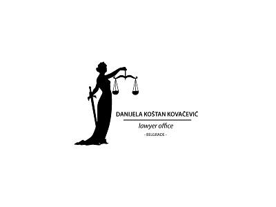 Lawyer Office justice vector typography monogram office logo lawyer black design color branding