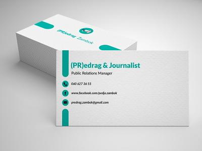 Mockup Visit Card vector typography visitcard monogram logo pr journalist design color branding green