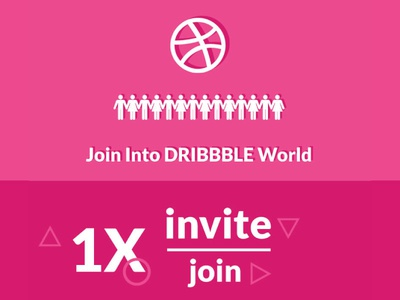Dribbble 1x Invite world thanks player invite invitation hello giveaway dribbble draft debut chance