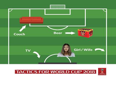 Wc Tactics 2018 vector typography tactics football worldcup logo soccer design color fun branding best