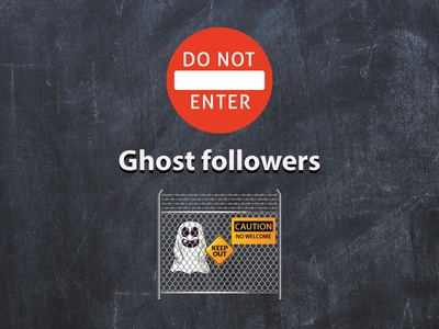 Ghost Followers vector typography enter sign red logo followers design color ghost branding