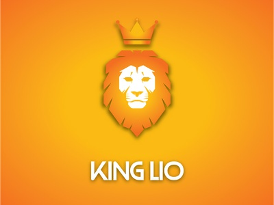 King Lio crown vector typography lion logo king design color animals branding gradient