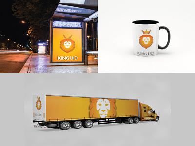 King Lio Mockup vector typography type symbol logotype design mockup logo icon flat brand branding