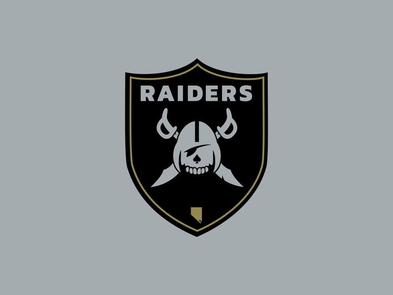 Las Vegas Raiders Logo Concept shield concept design identity logo concept logo football raiders las vegas raiders las vegas