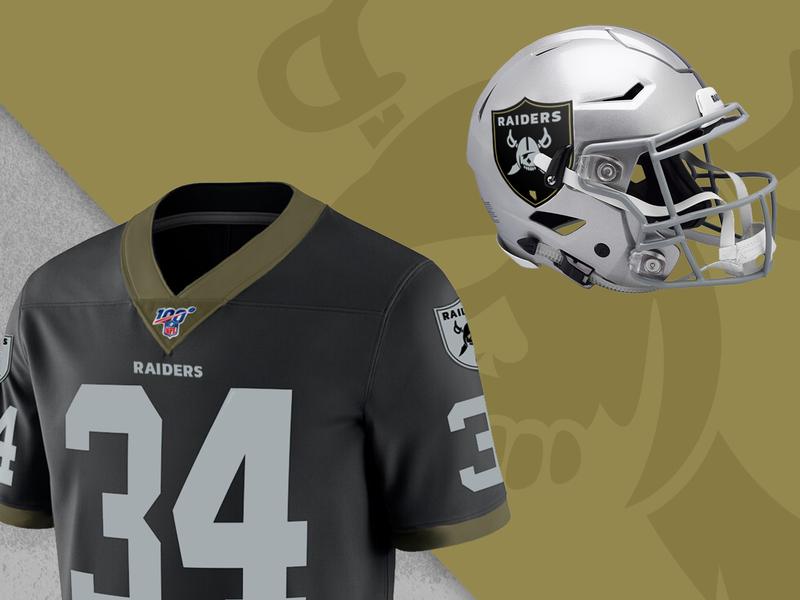 Las Vegas Raiders Apparel Concepts shield football raiders las vegas raiders las vegas logo concept concept logo design