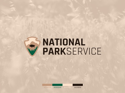 National Park Service Logo Concept sign patch national park service national park vector logo concept concept identity logo design
