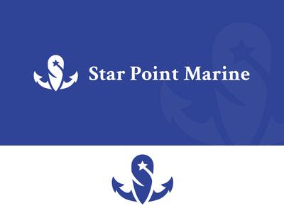 Daily Logo Challenge | Day 023 (Boat Logo) boat logo star point anchor star point marine marine vector logo concept logo challenge design challenge dailylogochallenge concept identity design branding logo