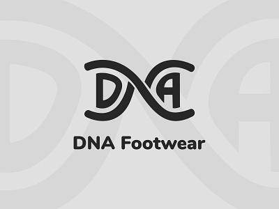 Daily Logo Challenge | Day 030 (Sneaker Company) footwear sneaker company sneakers shoes dna footwear dna vector logo concept logo challenge design challenge dailylogochallenge concept identity design branding logo