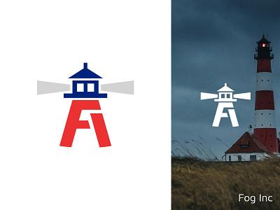 Daily Logo Challenge | Day 031 (Lighthouse) beach fi monogram fog fog inc lighthouse logo lighthouse vector logo concept logo challenge design challenge dailylogochallenge concept identity design branding logo