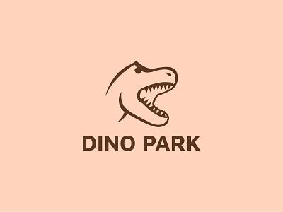 Daily Logo Challenge | Day 035 (Dinosaur Amusement Park) dino dinosaur amusement park dinosaur dino park vector logo concept logo challenge design challenge dailylogochallenge concept identity design branding logo