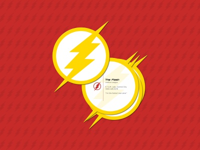 Weekly Warm-Up No. 2 - Superhero Business Card weekly warm-up bolt lightning bolt lightning flash central city justice league business card design business card superhero the flash concept vector identity design