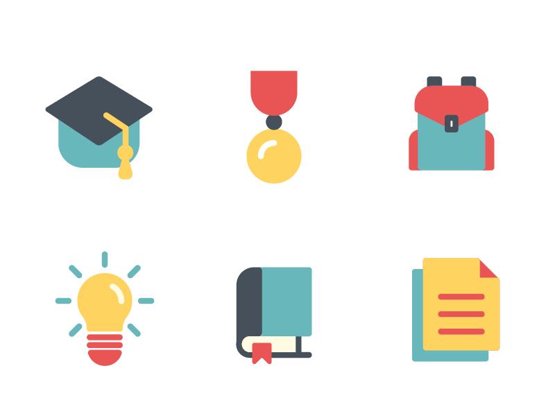 Education Flat Iconset backpack book icon college iconset school flat icon education icon