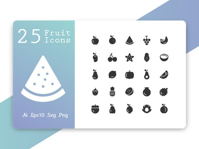 Fruit Icons Solid