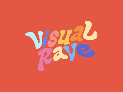VisualRave, red vintage red graphic design visual rave visualrave vector design lettering monogram branding logo