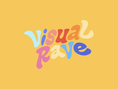 VisualRave, yellow graphic design yellow vintage visualrave visual rave design lettering monogram branding logo