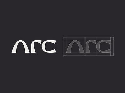 Arc. logo mark brand identity brand design logo design arc architecture vector design lettering monogram icon branding logo