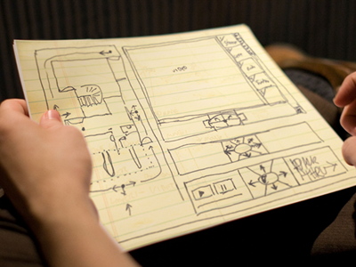 Interactive room navigator sketch