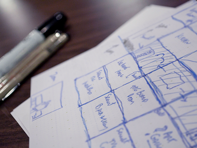 Horizontal screen navigation sketch