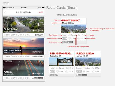 Mobile Card Design routes mobile app design mobile app cards ui