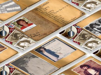 Interactive World & Scrapbook Project (Flash & HTML5) page flip photoshop vintage art interactive video flash video scrapbook html 5 adobe flash skeuomorphic