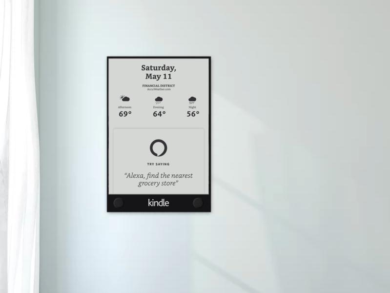 Kindle Smart Wall - Alexa Meets Kindle paperwhite smartdisplay smartwall kindle
