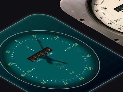 Daily FUI - RPM Dial Re-Creation (Timed Design Exercise) control panel control dailyfui high contrast sketch fuidesign fui