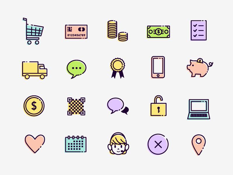 50 free eCommerce Icons set ecommerce vector illustration icons icon