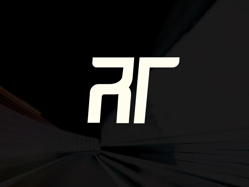 R T car monogram branding logo