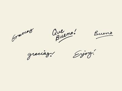bueno cantina type hand lettering hand drawn type handmade