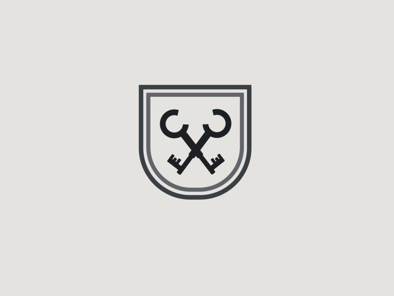 Key Logo financial branding logo icon badge keys