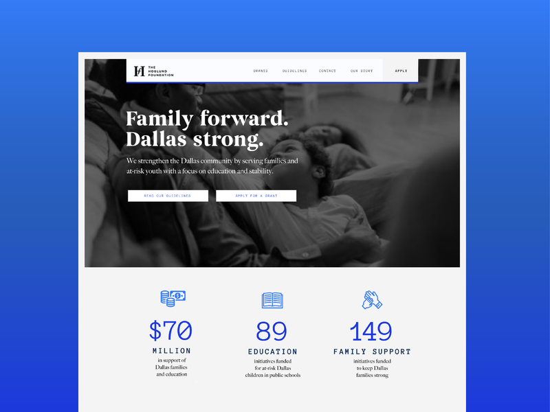 Website - Rough Draft web home page landing page mockup web design blue website