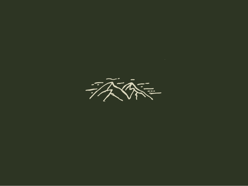 Mountain Icon camping hiking mountains illustrated illustration icon outdoor mountain
