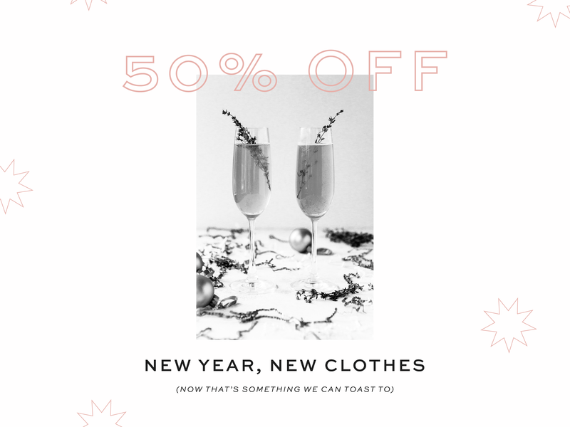 50% Off Graphic instagram social sale boutique new years