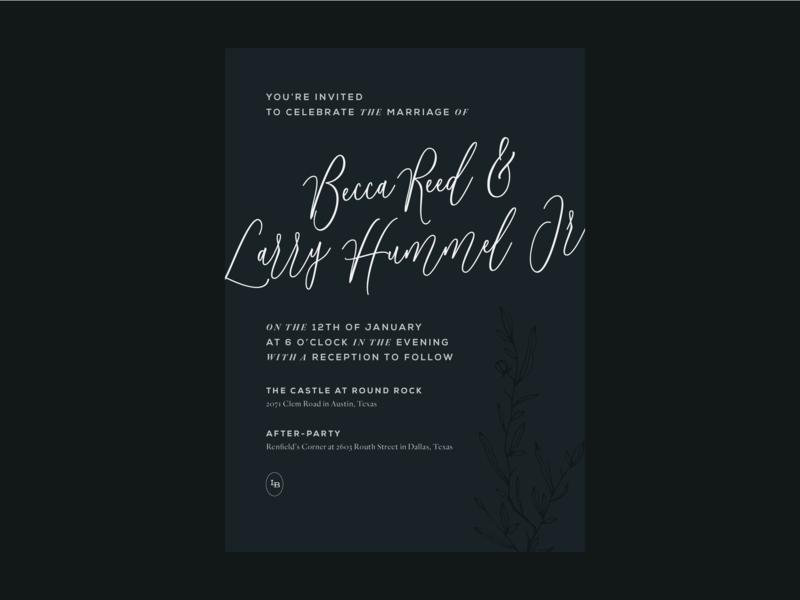 wedding invitation concept postcard invite blue navy invitation wedding