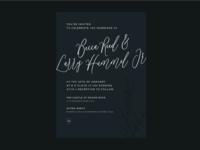 wedding invitation concept