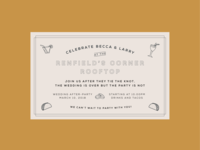 wedding after-party invitation