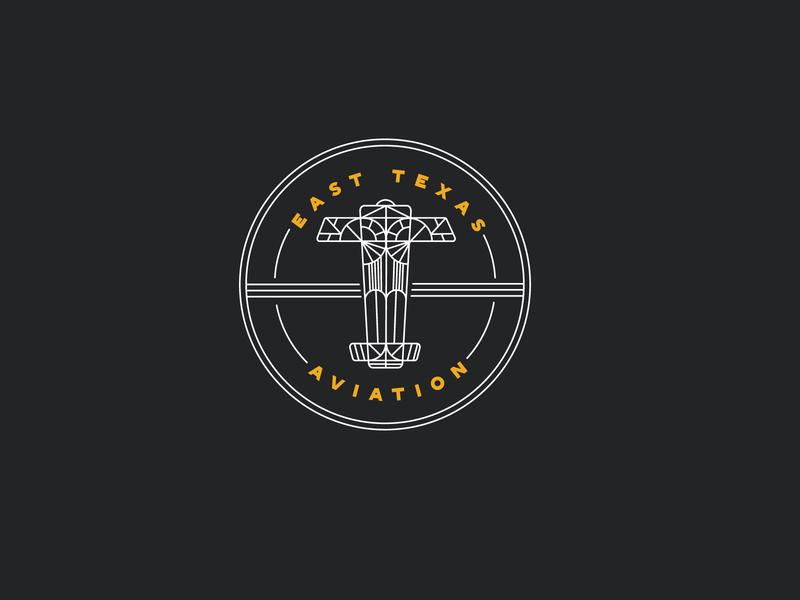 aviation logo badge illustration plane