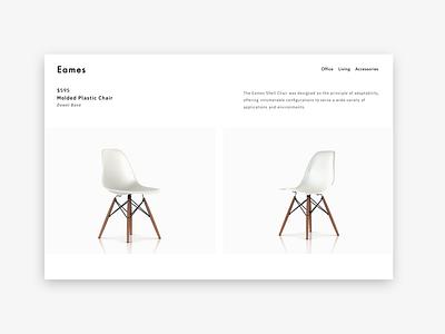 Eames Molded Plastic Chair website web ui minimal branding ux design