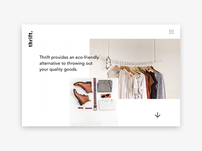 Thrift website minimal design branding