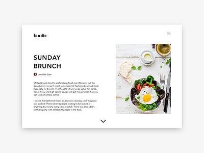 Sunday Brunch ux web website ui minimal design branding