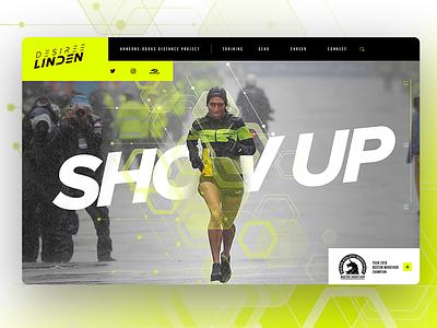 Desi Linden sport design web web design