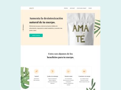 Amate Landing Page