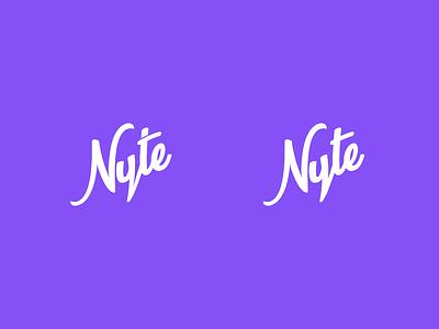 Nyte Logo Exploration nyte branding vector purple design logo