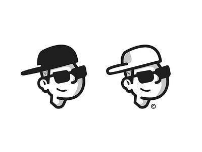 Mini Me, Avatar Design design black white branding flatdesign monogram glasses avatar logo