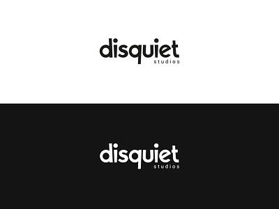 Disquiet Studios - Logo Exploration vector typography white branding black design logo