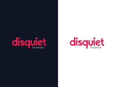 Disquiet Colored Version design vector typography logo