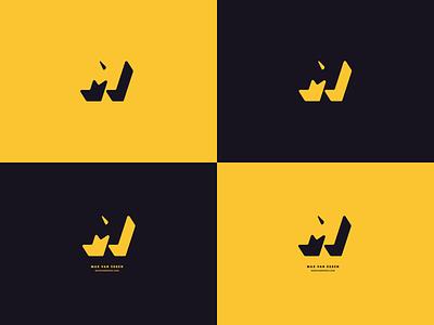 Personal Logo Exploration shadow yellow logo m
