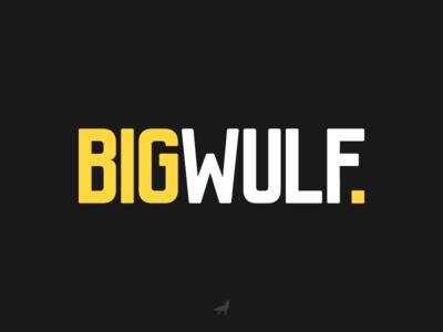Bigwulf Logo Design yellow wulf logo wolf bigwulf