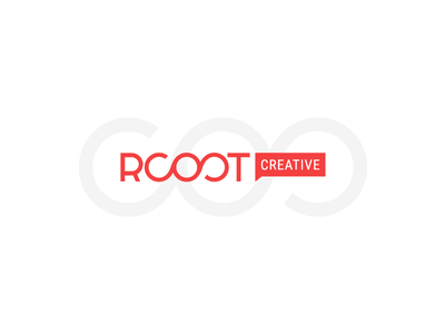 Rooot Big Logo double infinity creative logo red rooot