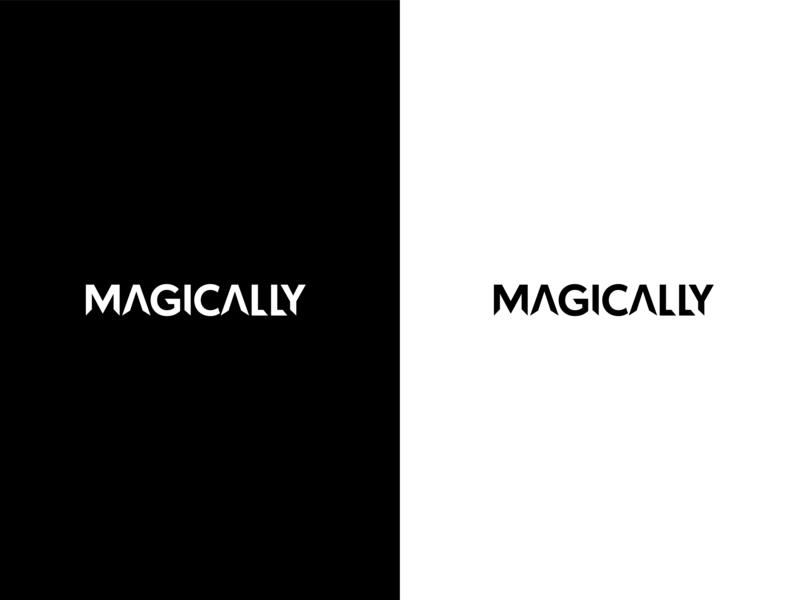 Magically Logo Exploration design magical sharp white black logo